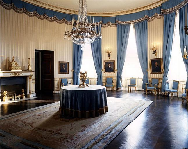 Blue WhiteHouse Blue Room