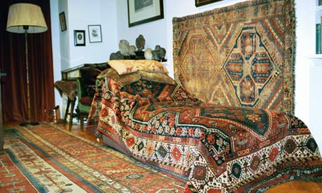 Sigmund Freud's couch at the Freud museum, North London