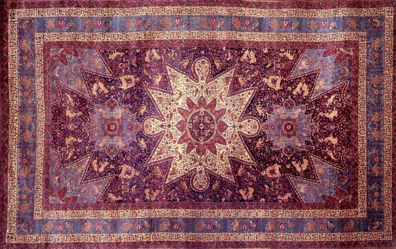 ahdoot's oriental rug decorating guide: the purple room