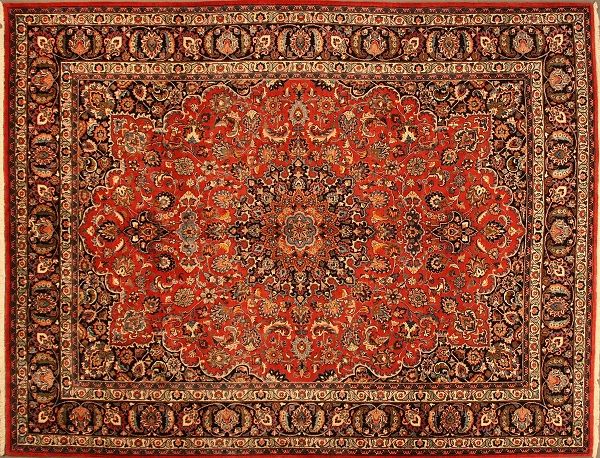 Ahdoot Oriental Rugs Orange Room 2