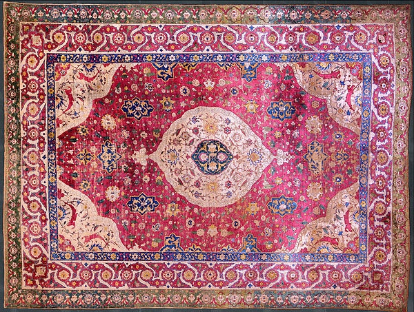 rothschild silk medallion tabriz rug